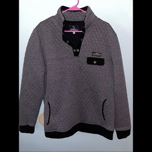 Gray & black Simply Southern pullover XL